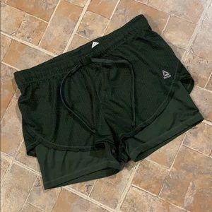 Reebok layered athletic shorts size women's medium